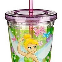 Disney Store Fairies Tinkerbell Tumbler with Straw Cup