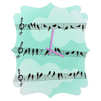 Belle13 Musical Nature Quatrefoil Clock
