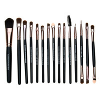 New Pro Makeup Cosmetic Tool Brush Set Foundation Eye Shadow Eyebrow Lip Brush 15 PCs Set = 1838453828