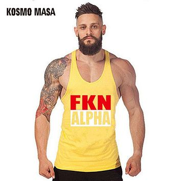 Singlets Men's Tank Tops Shirt Bodybuilding Equipment Fitness Men's Golds Stringer Muscle tank Top Vest
