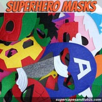 Sale! Superhero Masks - Ready to Ship / Party Favors