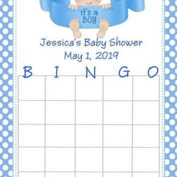 10 It's A Boy Baby Shower Bingo Cards Light Skin