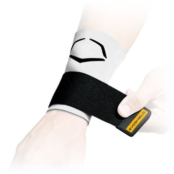 EvoShield Compression Wrist Sleeve with Performance Elastic Strap (White, X-Large)