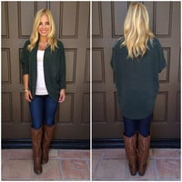 Out Of The Woods Cardigan - OLIVE