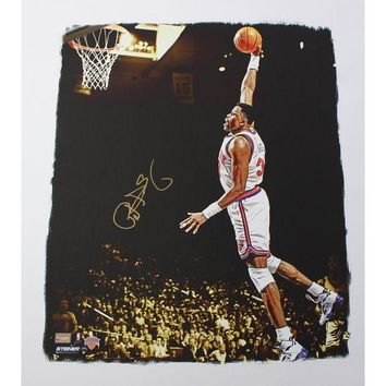 NOVO5 Patrick Ewing Signed Dunk 22x26 Canvas