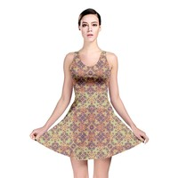 Vintage Ornate Baroque Reversible Skater Dress