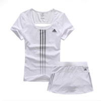 Trendsetter Adidas Woman Gym Sport Yoga Embroidery Top Cami Shorts Set Two-Piece Sportswear