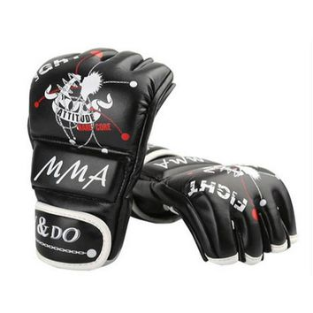 Half Fingers Gloves for Boxing And Sandbag Punching Training