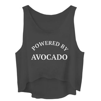 Powered By Avacado - Women's Sarcasm Crop Top