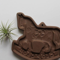 Vintage Hartstone Pony Shaped Stoneware Cookie Press Mold 1982