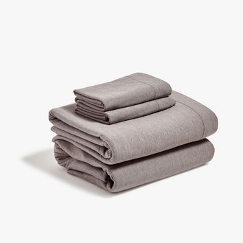 Gray Jersey Sheet Set