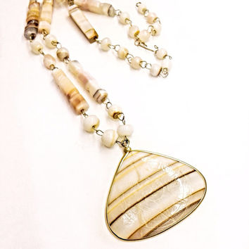 Beautiful Shell Necklace Made in Mexico