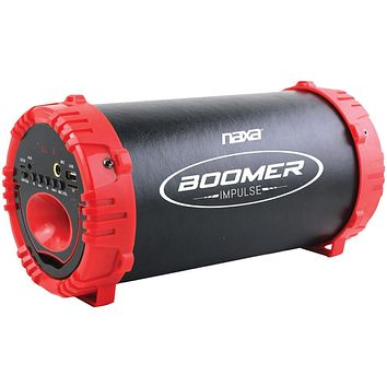 Naxa Boomer Impulse Led Bluetooth Boom Box (red)