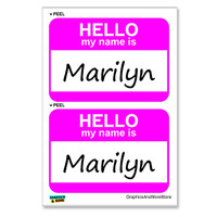 Marilyn Hello My Name Is - Sheet of 2 Stickers