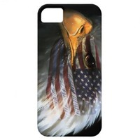 American bald eagle with American flag iPhone 5 Cases from Zazzle.com