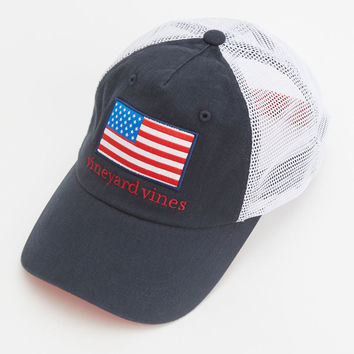 Vineyard Vines - American Flag Patch Trucker Hat