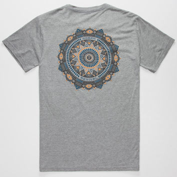 Roark False Mandala Mens T-Shirt Heather  In Sizes