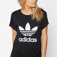 adidas Trefoil Short Sleeve Boyfriend T-Shirt at PacSun.com