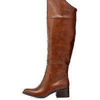 ASYMMETRICAL POINTED TOE OVER-THE-KNEE BOOTS