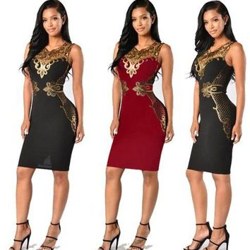 Sexy Women Summer Sleeveless Bandage  Dress