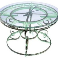 One Kings Lane - Barreveld International - Iron and Glass Clock Table