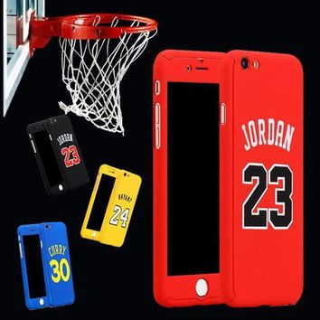 CREYONV for iphone 6 case 360 kobe bryant curry full body case for iphone 7 plus 6 6s plus iphone7 michael jordan air 23 basketball case  number 4