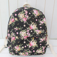 Vintage Canvas Korean Floral Travel Bags = 4887881796