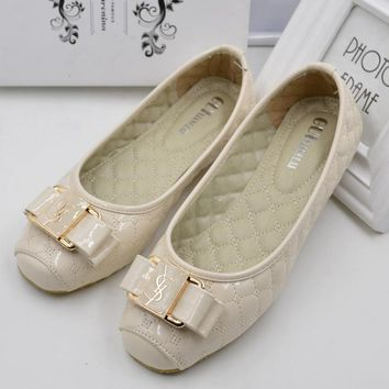 YSL Fashion new sandal single shoe egg roll shoes Beige