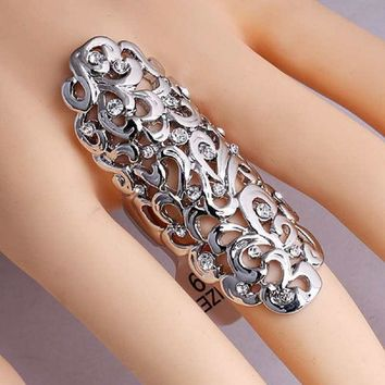 Knuckle Armor Double Punk Gothic Hippie Ring