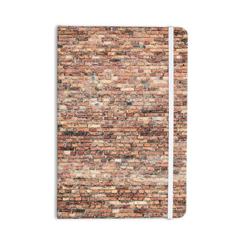 "Susan Sanders ""Rustic Bricks"" Orange Brown Everything Notebook"