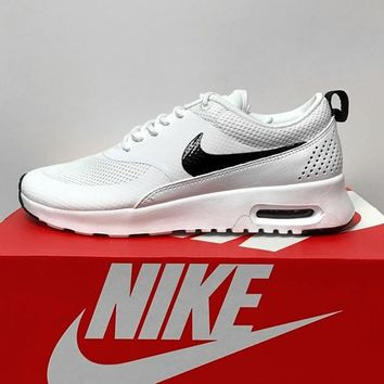 Nike Air Max Thea Print Casual Sports Shoes white black hook