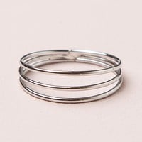 SILVER STACKED RING