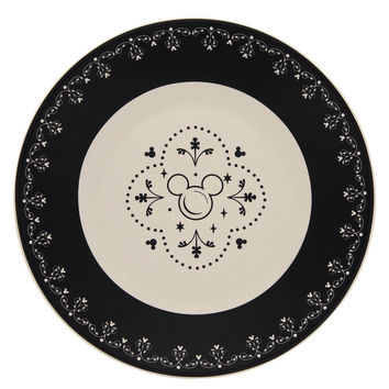 Disney Parks Kitchen Mickey Icon Ceramic Dessert Plate New