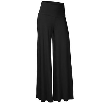 Women Black Slim High Waist Pants