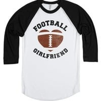 Football Girlfriend-Unisex White/Black T-Shirt