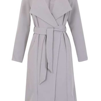 **Izabel London Grey Long Sleeved Coat - View All Sale - Sale & Offers