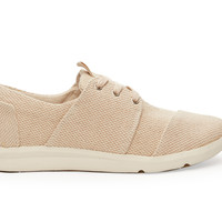 TOMS Natural Canvas Textured Women's Del Rey Sneakers Natural