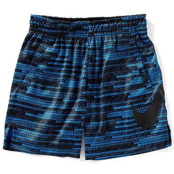 Nike Little Boys 2T-7 Dri-FIT Wordmark Print Shorts | Dillards