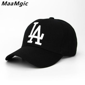2018 New letter Baseball Caps LA Dodgers Embroidery Hip Hop bone Snapback Hats for Men Women Adjustable Gorras Casquette Unisex