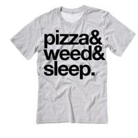 Pizza and Weed and Sleep Tshirt | Pizza Marijuana Naps Tee | Pizza Tee Shirt | 420 Marijuana Shirts  | Weed Tees | MADE in USA