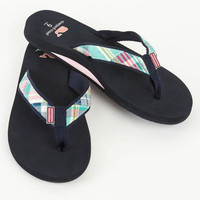 Womens Flip Flops: Patchwork Madras Flip Flops for Women - Vineyard Vines