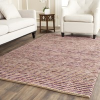 Safavieh Hand-knotted Vegetable Dye Chunky Purple Hemp Rug (6' Square) | Overstock.com Shopping - The Best Deals on Round/Oval/Square