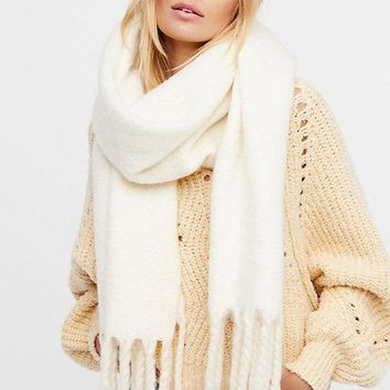 Free People Kensington Brushed Herringbone Scarf