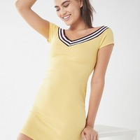 UO Sport Tape Wide-Neck Mini Dress | Urban Outfitters