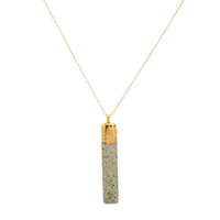 Gold Dipped Bar Pendant