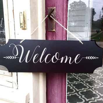 Welcome Sign - Welcome - Door Decor - Door Decorations - Door Hanger - Fall Door Hanger - Welcome Sign for Front Door - Welcome Wedding Sign
