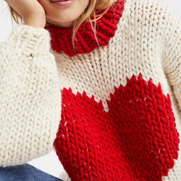Free People Happy Hearts Sweater