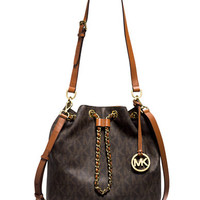 Michael Michael Kors Frankie Signature Large Convertible Drawstring Bag