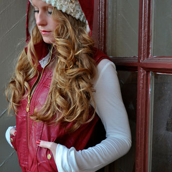 Baby It's Cold Outside Vest: Cranberry