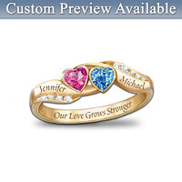 """""""Love's Journey"""" Personalized Couples Ring"""